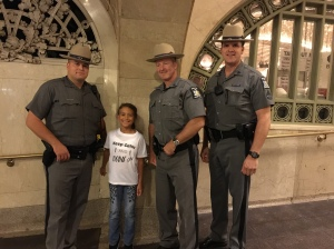Sadie Rae with some New York State Police Heroes