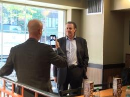 #Foodiechats founder Steve Green hard at workSteve